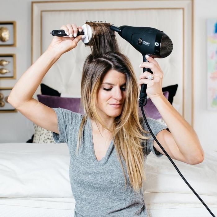 comment donner du volume aux cheveux technique stylisation chevelure maison outils seche cheveux