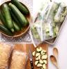 cuillère bois courgettes sac congélation planche a découper bois pain nourriture