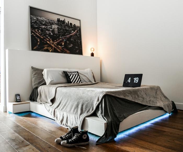 déco chambre étudiant choix systeme climatisation portable petit espace tete de lit avec rangement