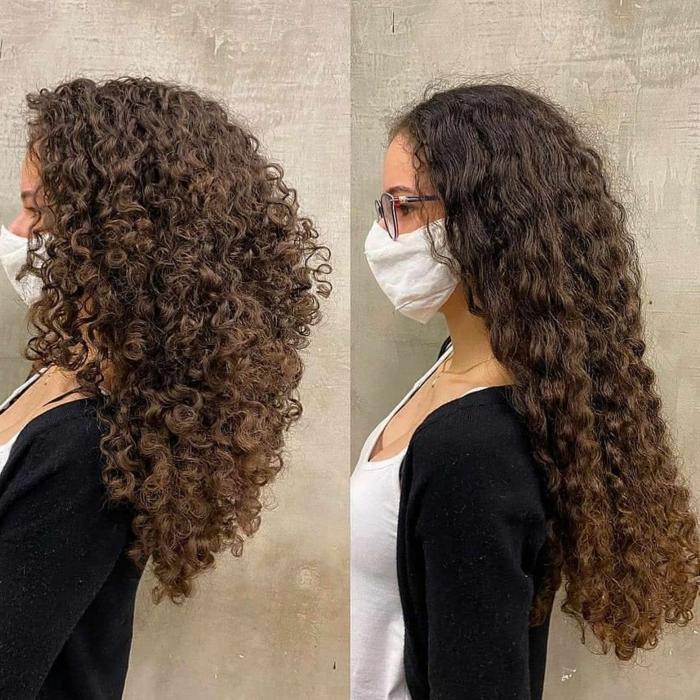 dégradé cheveux bouclés mi longueur une fille qui a coupé ses cheveux photo avant après resized