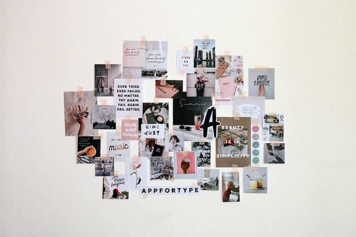 deco murale avec des photos et autres objets décoratifs et images originales style tumblr