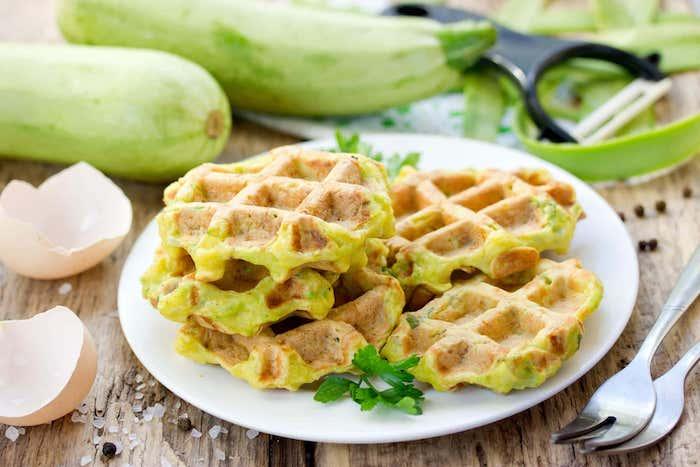 galette de courgette en gaufre petit déjeun parfait pour régime