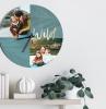 horloge personnalisé de photos exemples de décoration murale salon originale et créative