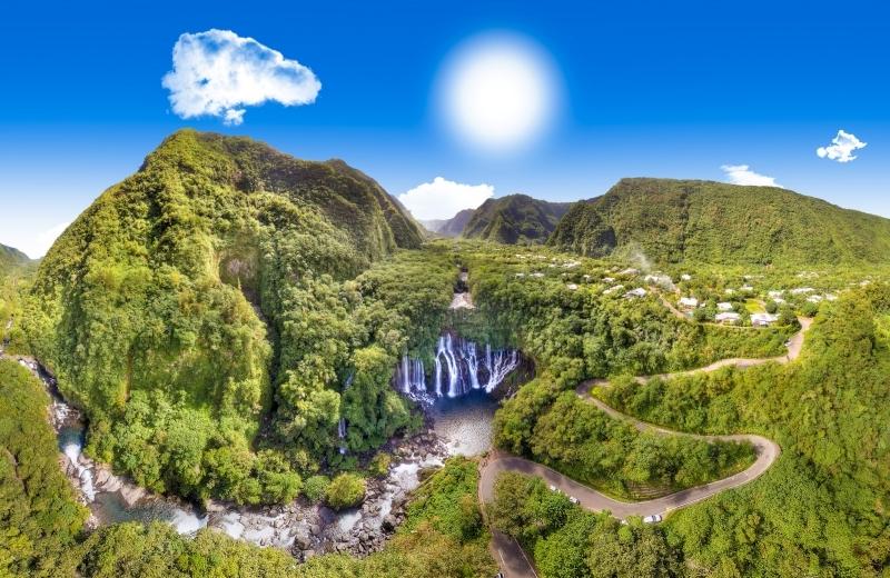 iles francaises reunion nature cascade sites a visiter nature sommet eaux