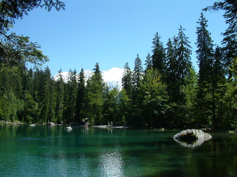 lac haute savoie vue sur le mont blanc le lac vert