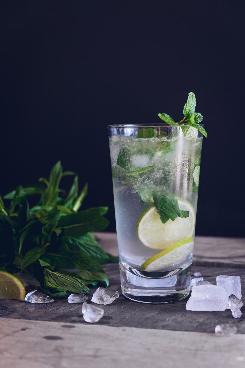 mojito sans alcool recette eau gazeuse tranches de citron vert verre