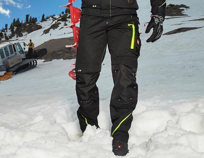 pantalon pour travailler d hiver multipoche protection du froid dans la montagne