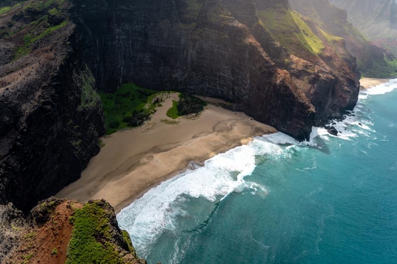 photo plage paradisiaque hawaï vue d en haut fond écran paysage mer