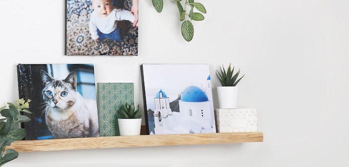 plusieurs images décoratives et souvenirs photo pour faire un mur de photos