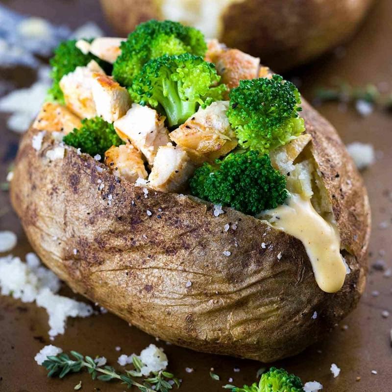 pomme de terre au four recette patates aux fomages et brocolis