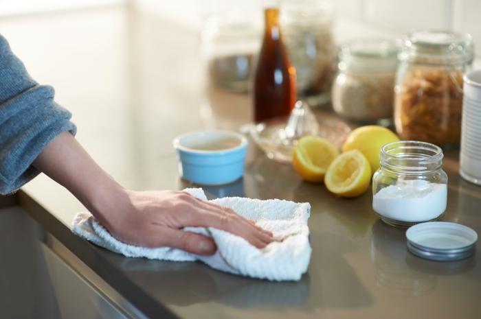 produit naturel contre les fourmis nettoyage régulier bocaux ingrédients zeste citron jus