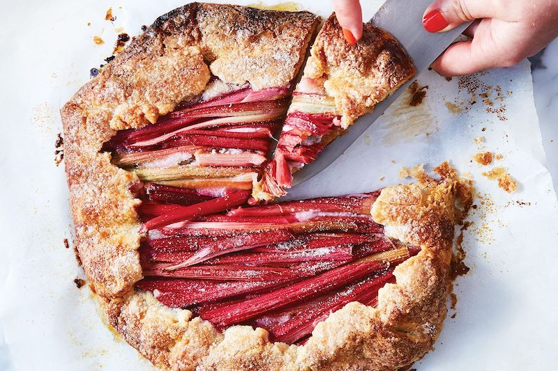 racette tarte à la rhubarbe à l ancienne