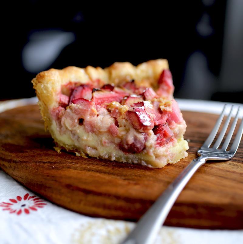 recette tarte à la rhubarbe à l ancienne