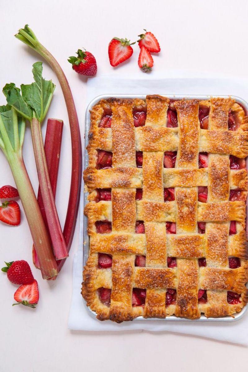 recette tarte rhubarbe à la fraise