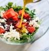 roquette pasteque fromage feta olives et vinaigrette original salade composée d été