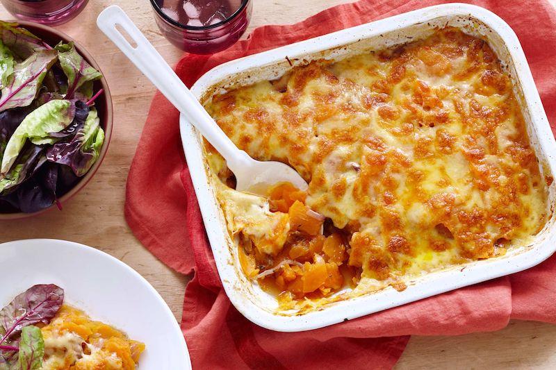 assaisonnement patate douce au four plat principal avec sauce