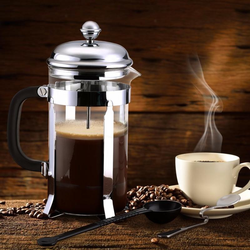 café latte recette cafetière à piston et des grains du café