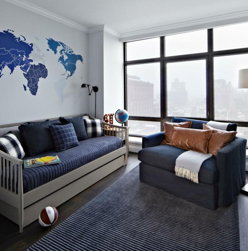 chambre gris et bleu la chambre d un garçon