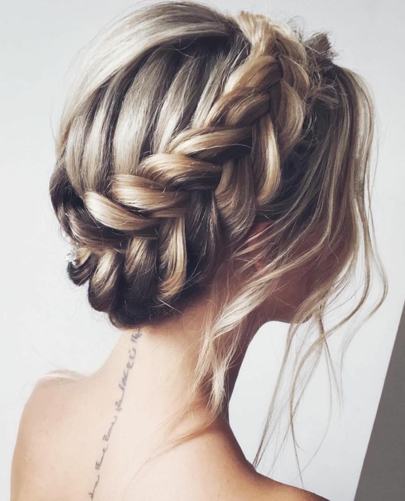 coiffure pour la rentrée ado tresse couronne pour fille