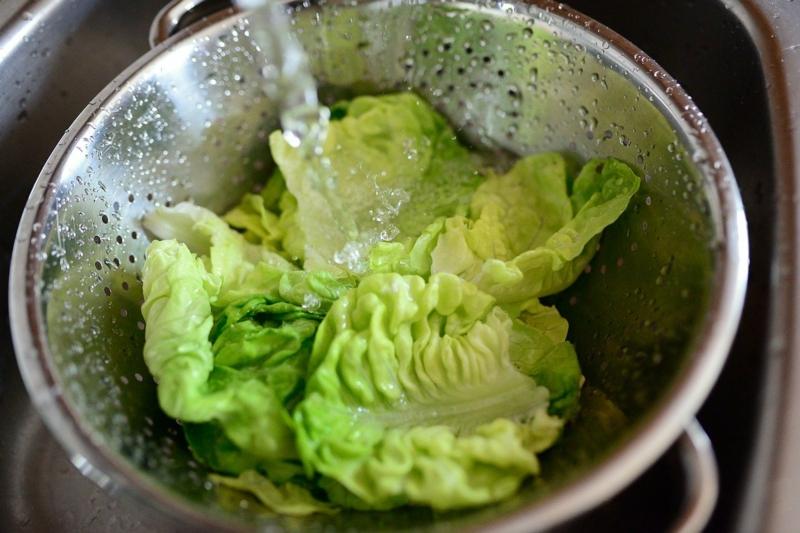 comment laver une salade laver la laitue dans un bol