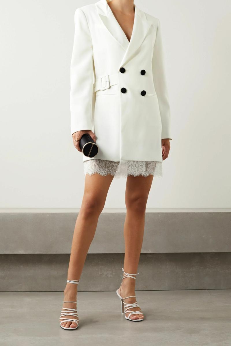 comment s habiller aujourd hui robe blazer blanche avec des talons