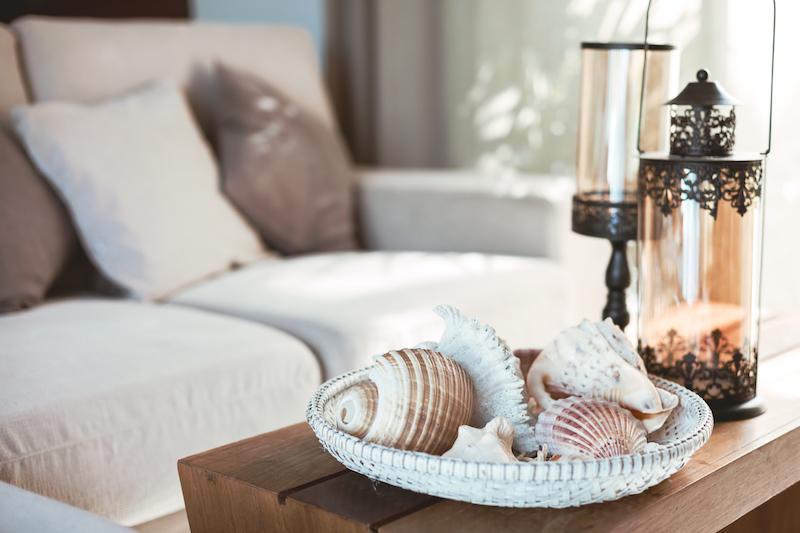 coquillage de mer pour accessoiriser le salon