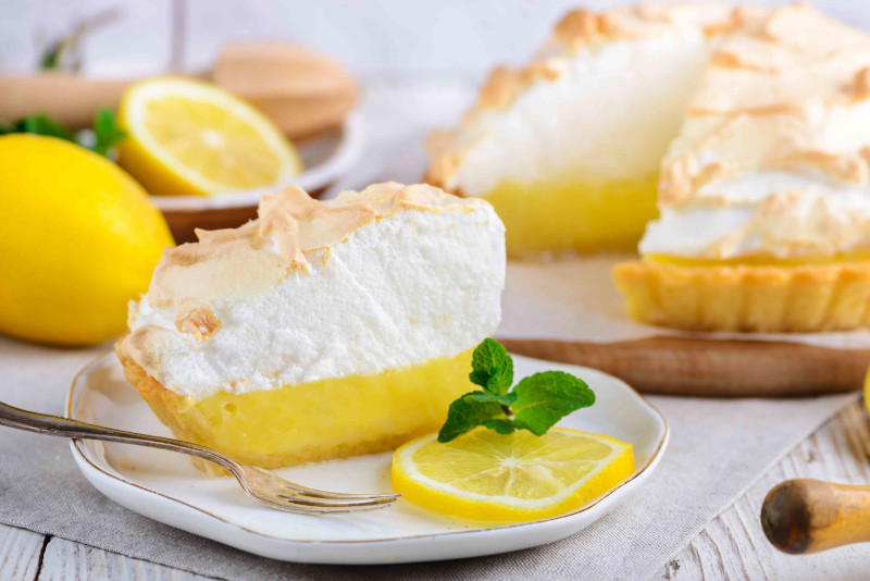 creme citron pour tarte meringue ferme cuite citron coupé