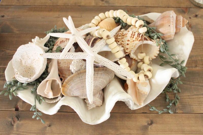 deco bord de mer panier de coquillage theme de mer