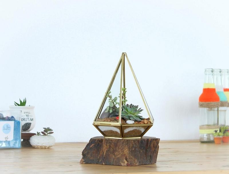 diy décoration a fabriquer soi même avec plante en bocal fermé