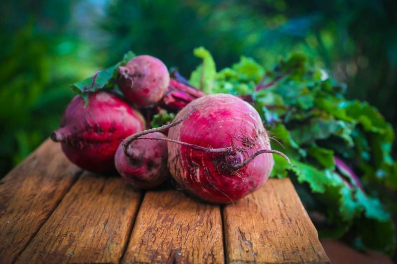 eliminer la graisse sur le foie betteraves naturelles du jardin