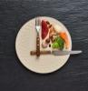 jeûne intermittent une assiette qui représente un montre