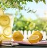 jus de citron des verres de jus de citron au soleil