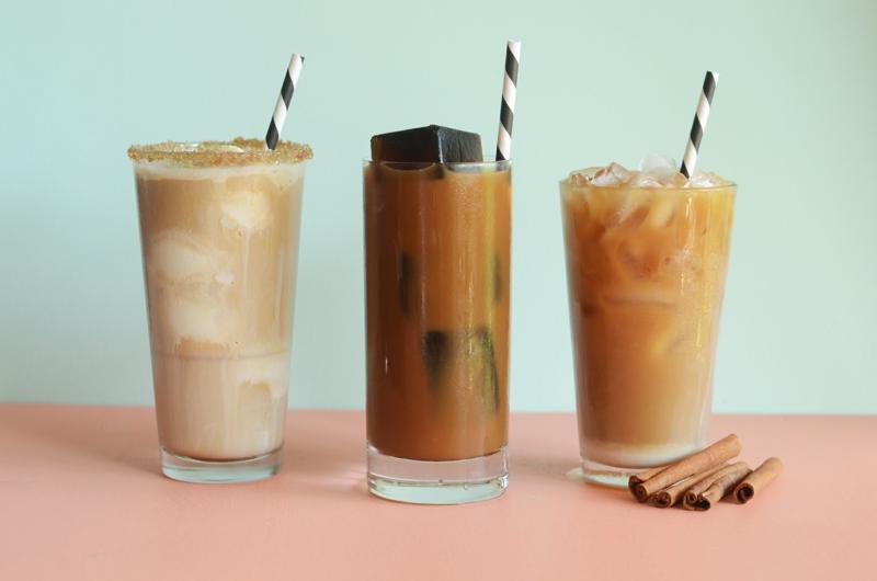 latte glacé recette trois verres de lattes glacés