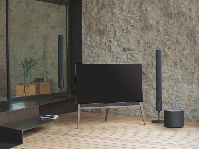 meuble tv en bois sol en plaches bois clair
