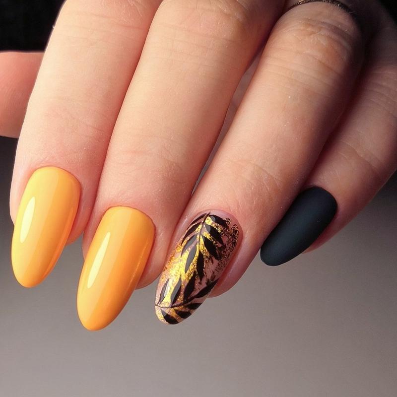 ongles en couleurs d automne ongle couleur moutard