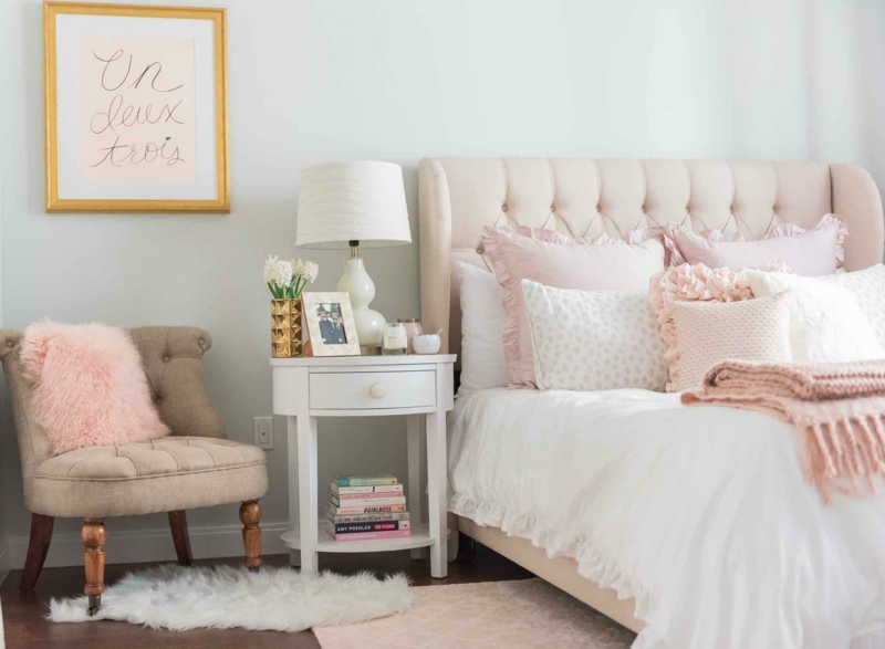 quelle couleur associer au gris foncé décorer la chambre pour fille