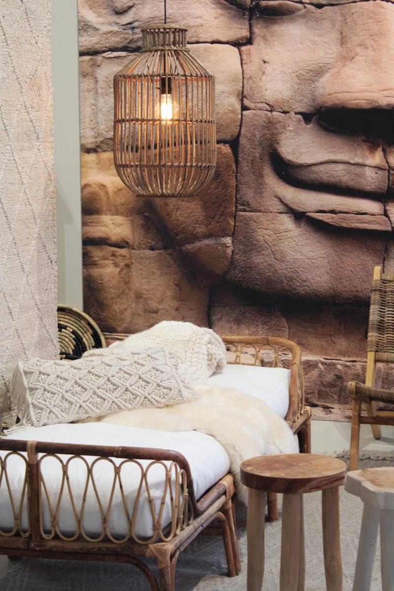 rénovation mur intérieur intérieur exotique lampadaire original
