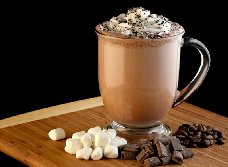 recette latte glacé mocha avec du chocolat