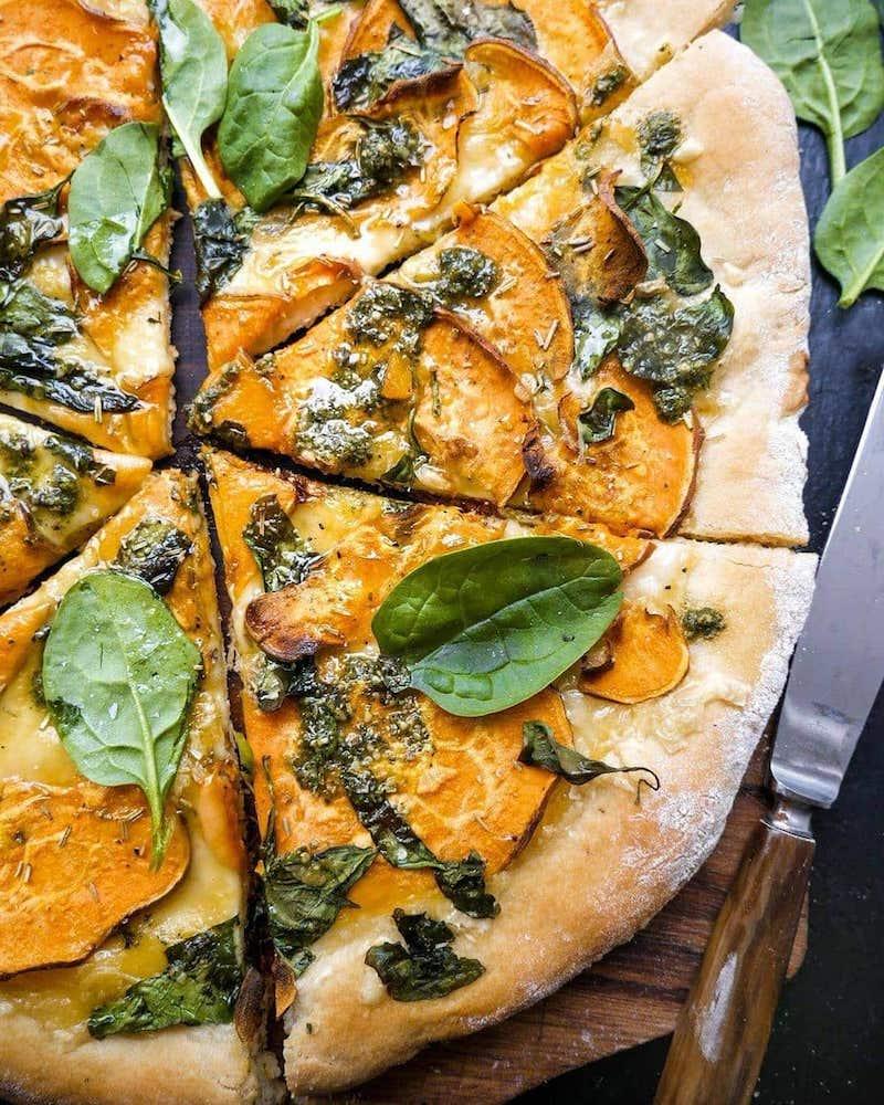 recette patate douce au four rapide pour en faire de la pizza