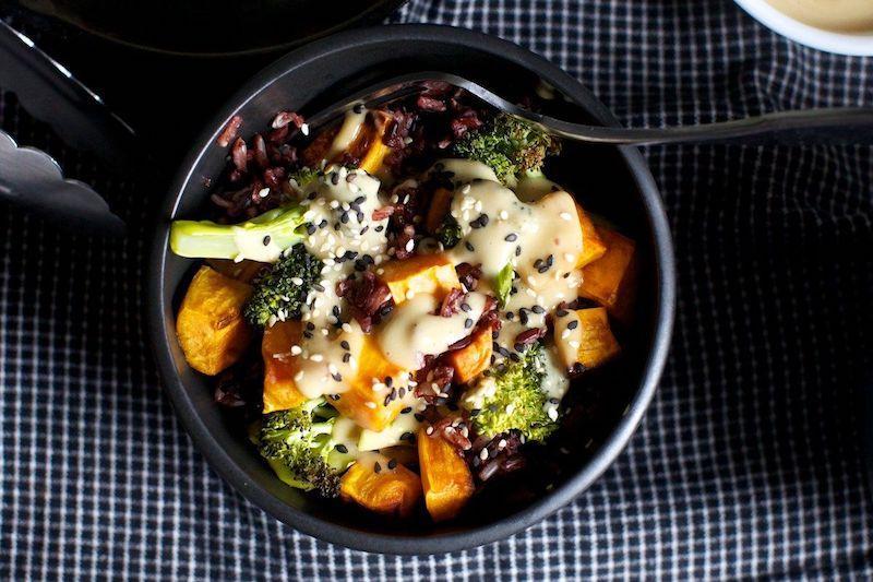 recette patate douce et pomme de terre avec du brocoli sésame
