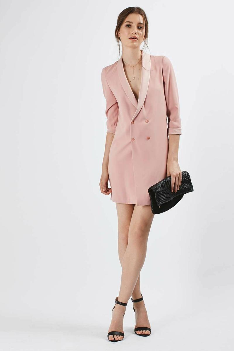 robe ado fille robe blazer en rose avec des talons noirs