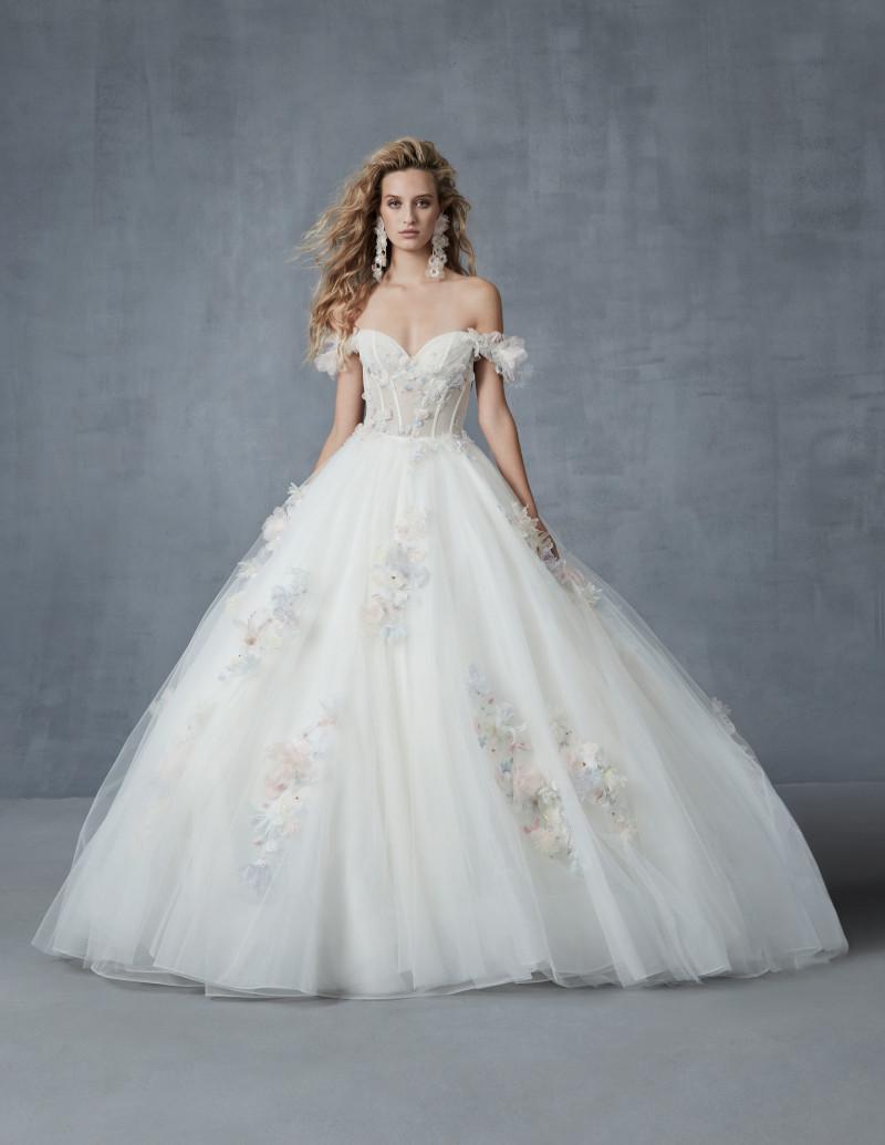 robe de cérémonie femme chic robe de princesse blanche aux épaules dénudées