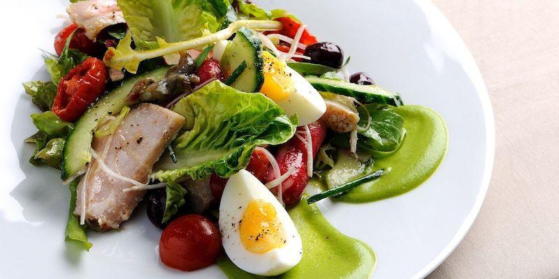 salade composée facile et originale de salade verte