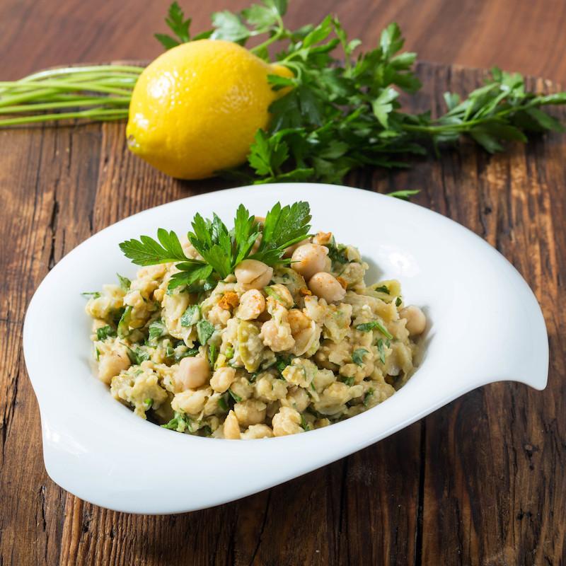salade de pois chiche jus de citron et du persil
