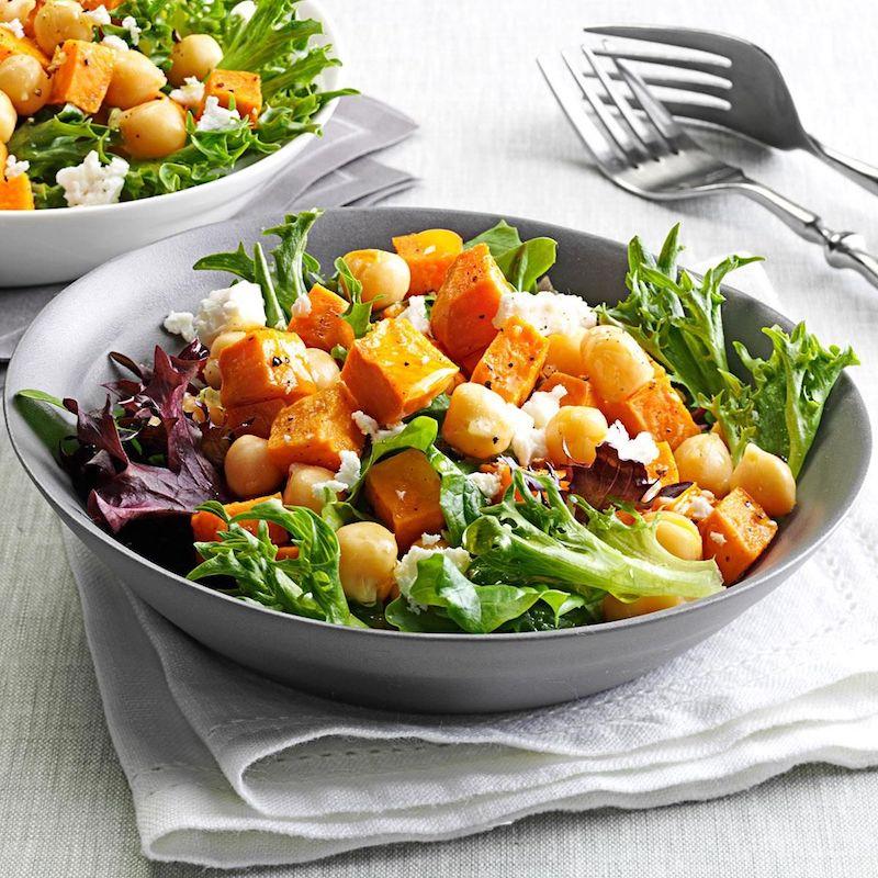 salade pois chiche feta patate et salade verte
