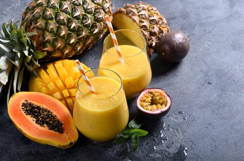 smoothie ananas mangue smoothie jaune à la mangue et ananas
