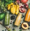 smoothie calories smoothies aux fruits différents colorés
