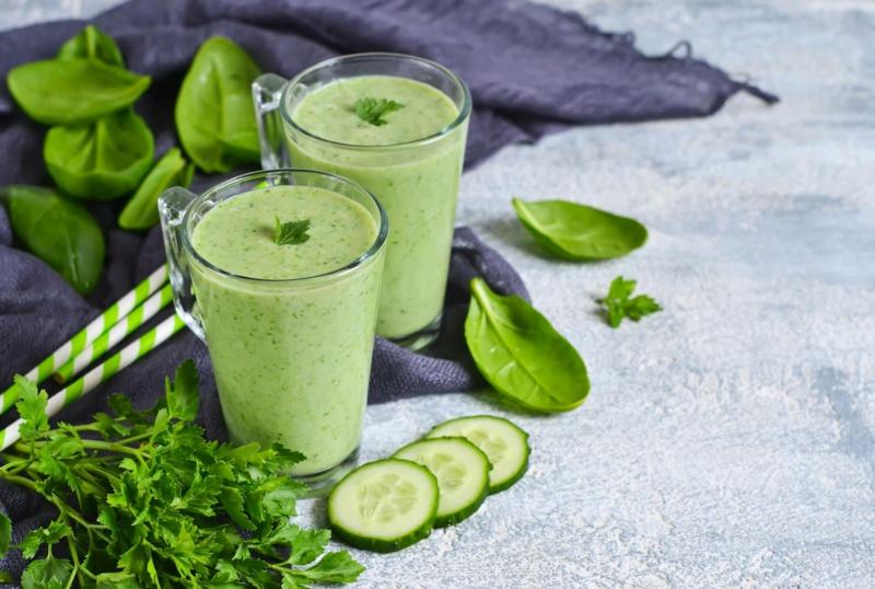 smoothie concombre smoothie vert minceur au concombre et aux épinards