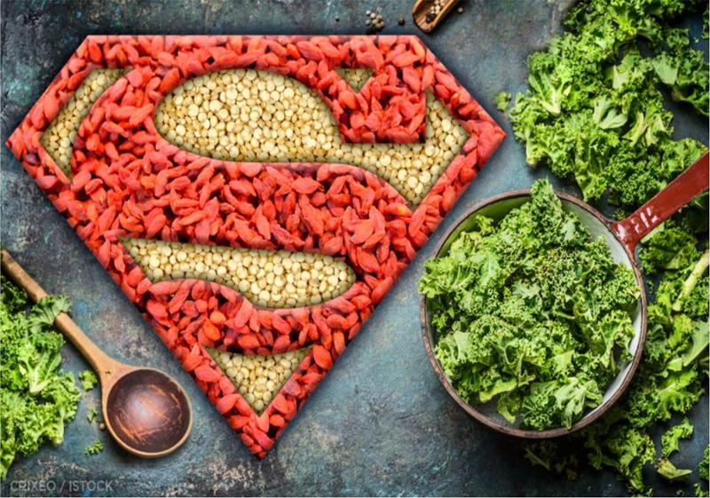 super aliment riche en vitamine c super aliment et le logo de superman