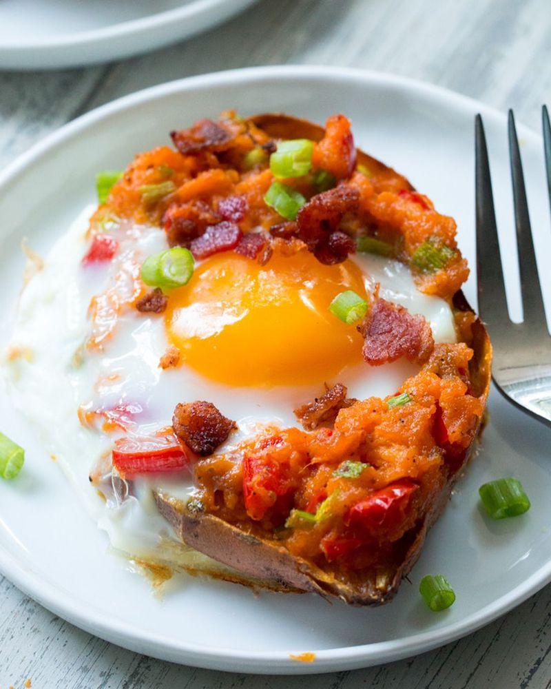 temps de cuisson patate douce farcie d œuf et légumes